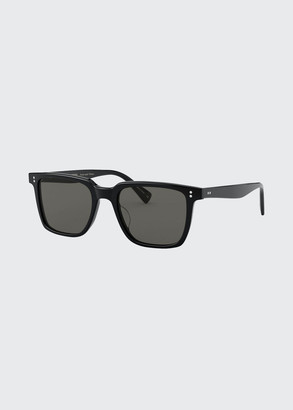 Oliver Peoples Square Polarized Acetate Sunglasses