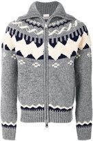 Moncler zipped chunky knit cardigan