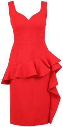 Alexander McQueen Ruffled Peplum Dress