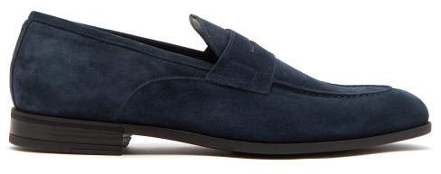 Harry's of London Clive Suede Loafers - Mens - Navy