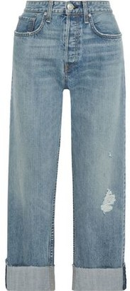 Rag & Bone Maya Distressed High-rise Straight-leg Jeans