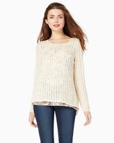 Charming charlie Winter Rose Sweater