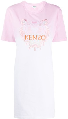Kenzo Tiger logo embroidered T-shirt dress
