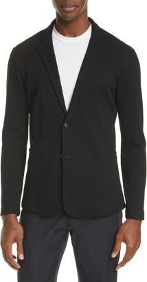 Emporio Armani Trim Fit Knit Cotton Blend Blazer