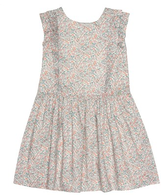 Tartine et Chocolat Liberty-print cotton pinafore dress