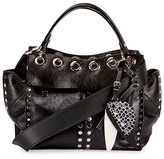 Proenza Schouler Curl Studded Leather Top-Handle Bag, Black
