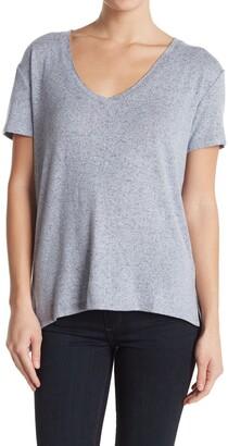 Caslon Brushed Knit V-Neck T-Shirt