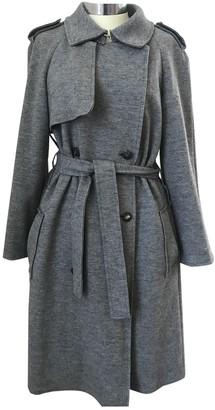 Lanvin Grey Wool Trench Coat for Women