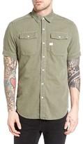 G Star Men's Landoh Deconstructed Woven Shirt