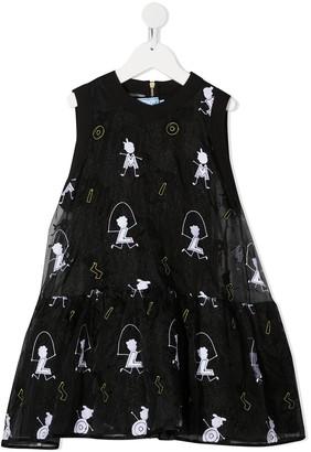 Mi Mi Sol Embroidered Jump Rope Dress