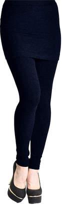 Angelina Women's Leggings NAVY - Navy High-Waist Skirt Leggings - Women & Plus