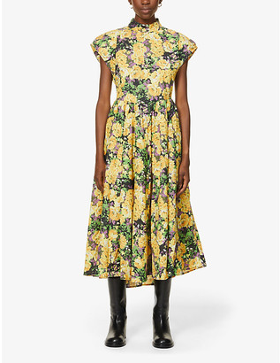 Gestuz Cassia floral-print organic cotton midi dress