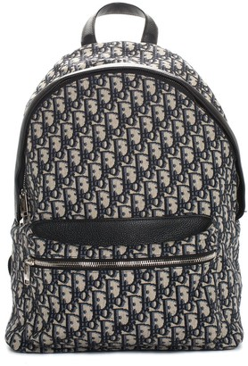 Christian Dior 2020 Navy & White Canvas Oblique Rider Backpack