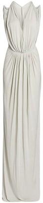 Rick Owens Helena Silk Jersey Drape Gown