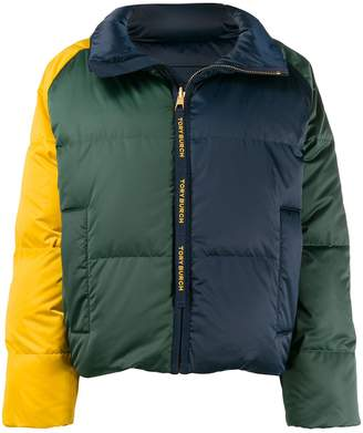 Tory Burch colour-block padded jacket