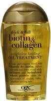OGX Weightless Healing Oil Treatment Thick and Full Biotin and Collagen