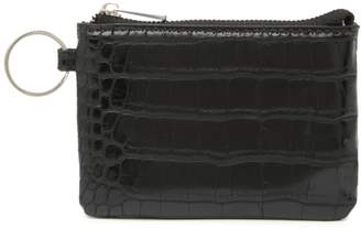 Most Wanted Design by Carlos Souza Crocodile Embossed Leather Coin Purse