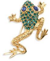 Oscar de la Renta Pave Frog Brooch