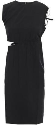 Helmut Lang Cutout Woven Mini Dress