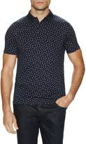 Ben Sherman Men's Geo Print Cotton Polo