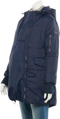 Modern Eternity Maternity 3-in-1 Mid-Thigh Bomber Puffer Coat