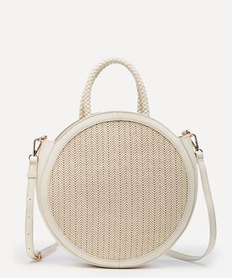 Sole Society Women's Nikole Crossbody Bag 4 Vegan Leather Crossbody White Combo From