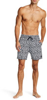 Jack Spade Hand Painted Square Pattern Swim Trunk