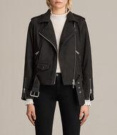 AllSaints Willow Nubuck Biker Jacket