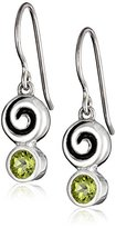 Zina Sterling Silver Swirl Drop Earrings With Peridot