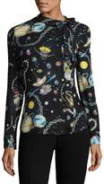 Love Moschino Women's Printed Strap Blouse