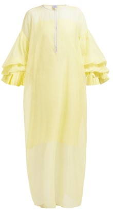 Thierry Colson Tahara Cotton Blend Kaftan - Womens - Yellow