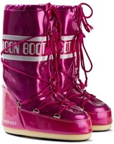 Moon Boot Pink Vinyl Met Moon Boots