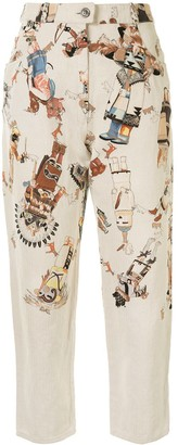 Hermes Pre-Owned patterned trousers