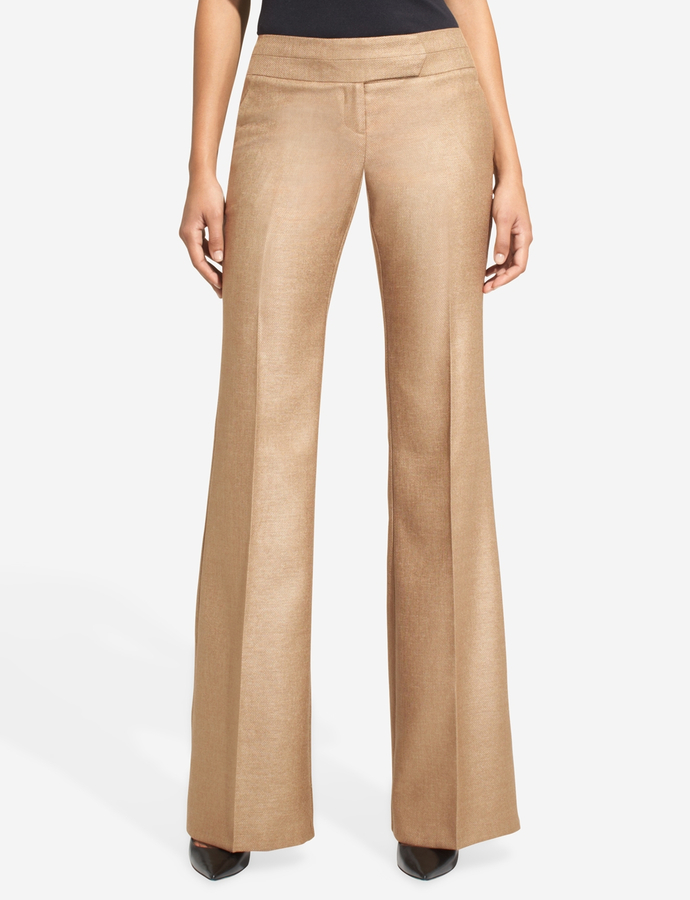 The Limited Cassidy Seamed-Waist Flare Pants