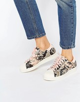 adidas Pink Faux Snake Superstar Sneakers