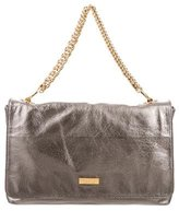 Halston Metallic Leather Handle Bag