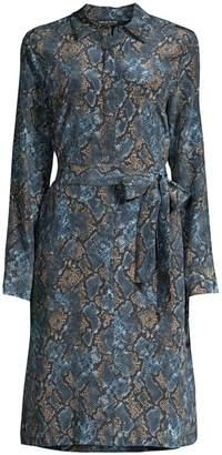 Lafayette 148 New York Mona Snake Print Shirtdress