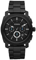 Fossil Machine Chronograph Bracelet Strap Watch, Black