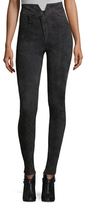 Isabel Marant Eydie Leather High Rise Slim Pant
