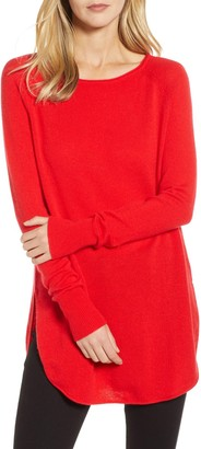 Halogen Boatneck Wool & Cashmere Tunic Top