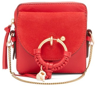 See by Chloe Joan Square Leather And Suede Cross-body Bag - Red