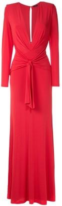 Tufi Duek Front Knot Draped Gown
