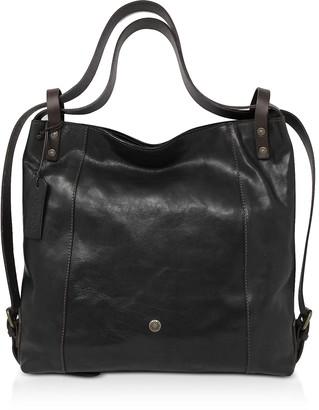 Chiarugi Genuine Leather Convertible Tote/Backpack