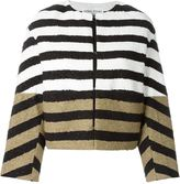 Sonia Rykiel colour block striped jacket - women - Silk/Cotton/Polyamide/Viscose - 34