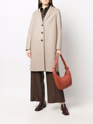 Harris Wharf London Felted Cashmere Single-Breasted Coat
