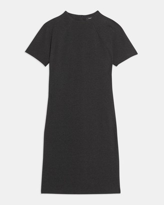 Theory Dolman-Sleeve Shift Dress in Viscose Knit