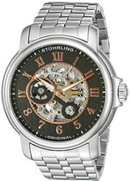 Stuhrling Original King Lear Men's Automatic Watch with Grey Dial Analogue Display and Silver Stainless Steel Bracelet 344.331154