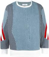 Facetasm contrast stripes jumper - unisex - Cotton/Wool - One Size