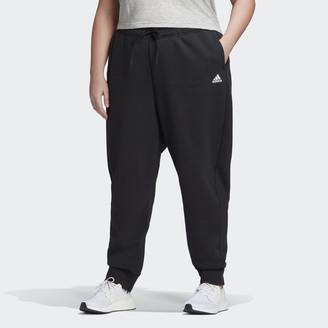 adidas Stacked Logo Fleece Pants (Plus Size)