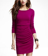 Express Shirred Long Sleeve Dress